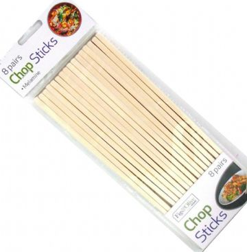 16 x Reusable Melamine Chopsticks Cream Sushi Chinese 24cm
